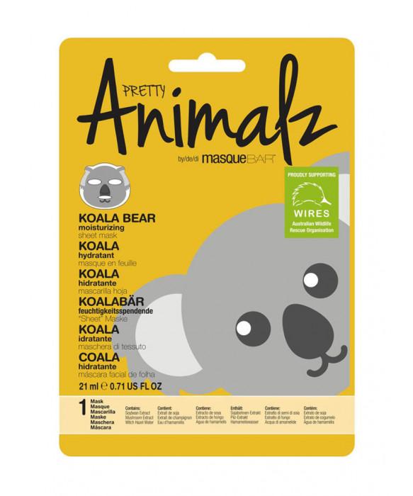 Pretty Animalz by Masque Bar Koala Moisturizing Sheet Mask kangasnaamio  kasvonaamio