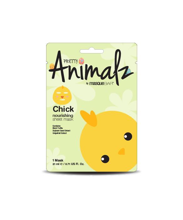 Pretty Animalz by Masque Bar Chick Hydrating Sheet Mask kangasnaamio kasvonaamio