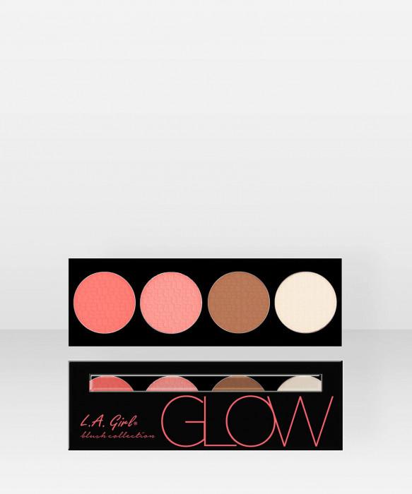 L.A. Girl  Beauty Brick Blush  Glow 22g kasvopaletti poskipunapaletti