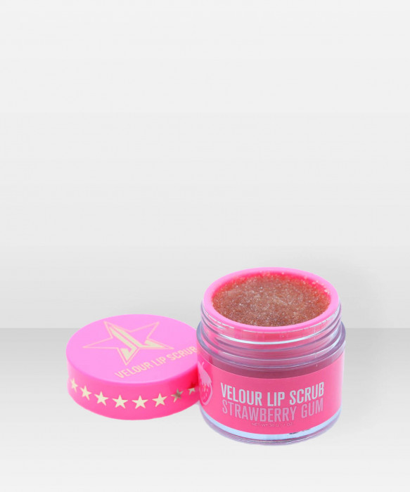 Jeffree Star Cosmetics Velour Lip Scrub Strawberry Gum kuorinta huulikuorinta sokerikuorinta