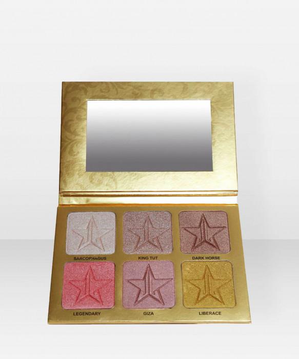 Jeffree Star Cosmetics Skin Frost Pro Palette 24 Karat korostusväripaletti paletti korostusväri korostuspuuteri highlighter