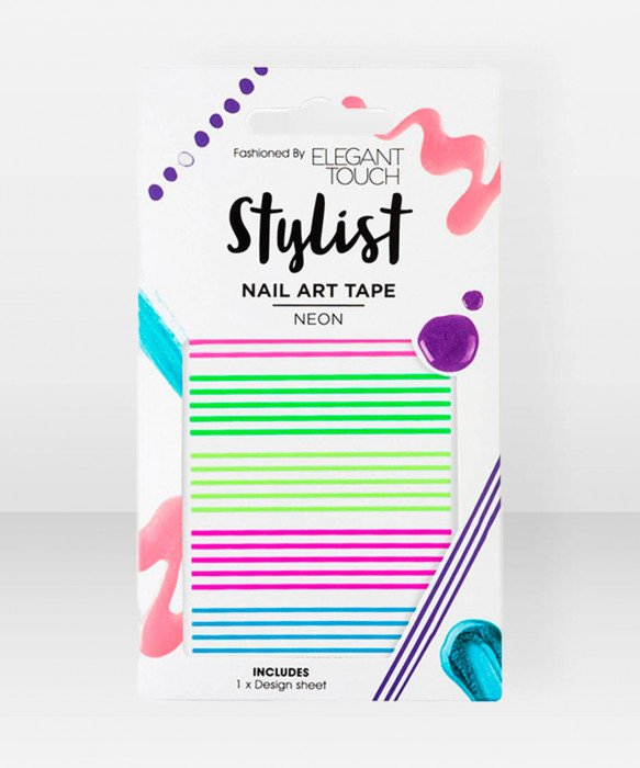 Elegant Touch  Nail Art Tape  Neon kynsiteippi koristeteippi