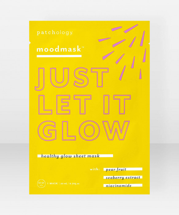Patchology moodmask Just Let It Glow Healthy Glow Sheet Mask Kangasnaamio kasvonaamio