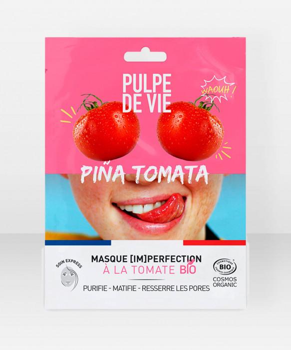 Pulpe De Vie Pina Tomata Imperfection Sheet Mask 20ml kangasnaamio kasvonaamio