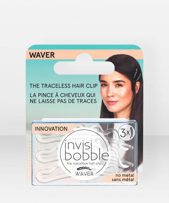 invisibobble WAVER Crystal Clear 3 pcs hiuspinni