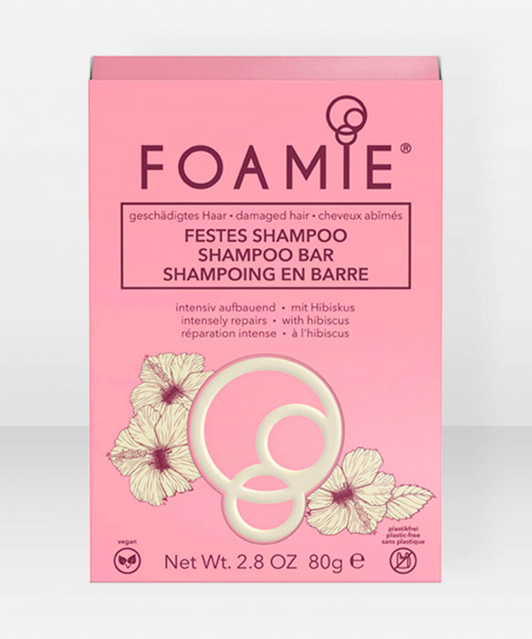 Foamie Shampoo Bar Hibiskiss (for damaged hair) palashampoo