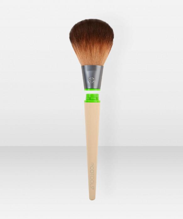 Ecotools Tapered Powder Brush -puuterisivellin varsi ja vaihtopää