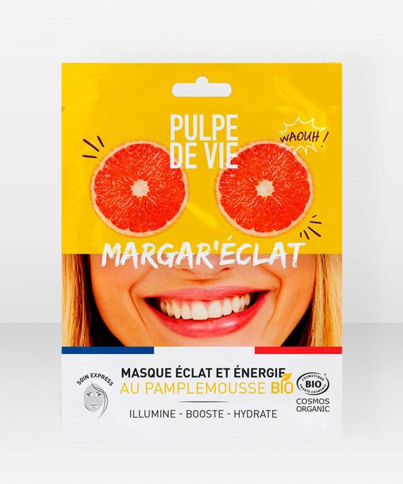 Pulpe De Vie Margar'eclat Organic Illuminating & Moisturing Sheet Mask 20ml kangasnaamio kasvonaamio