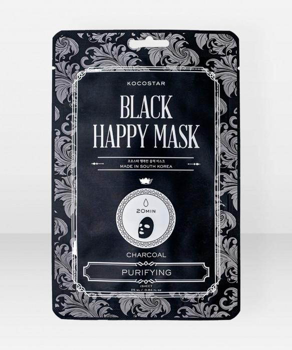 KOCOSTAR Black Happy Mask kangasnaamio kasvonaamio