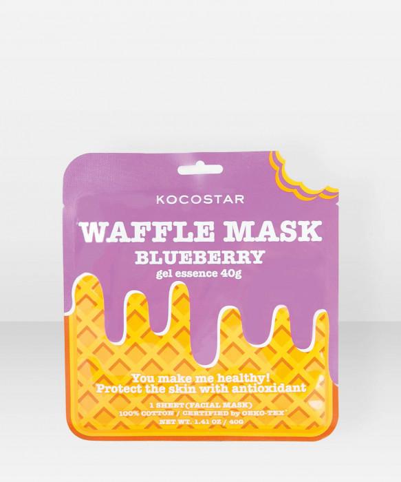 KOCOSTAR Waffle Mask Blueberry kangasnaamio kasvonaamio