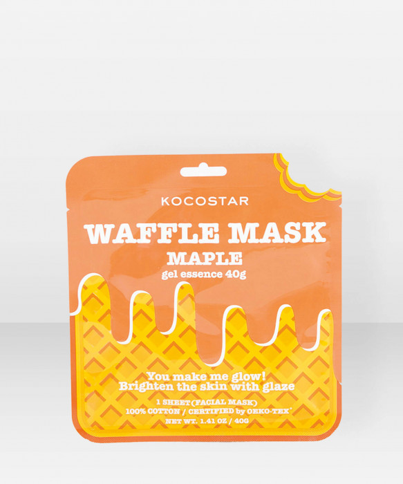 KOCOSTAR Waffle Mask Maple kangasnaamio kasvonaamio