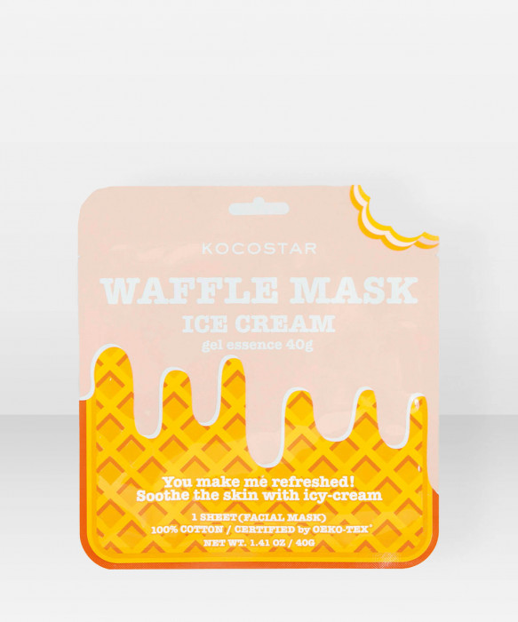 KOCOSTAR Waffle Mask Icecream kangasnaamio kasvonaamio