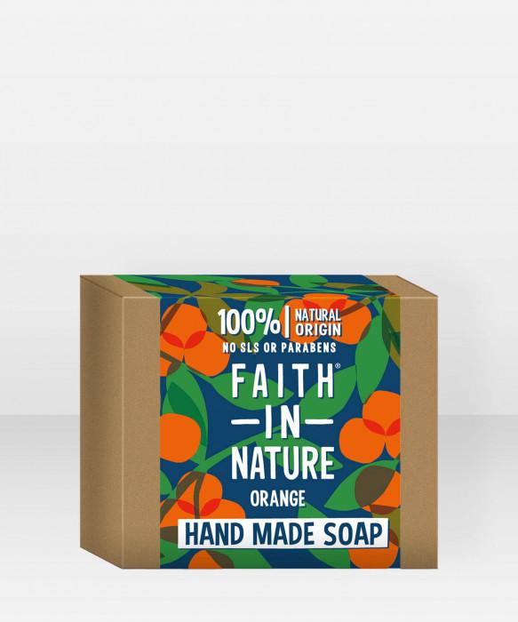 Faith in Nature Soap Orange käsisaippua palasaippua