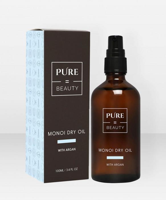 PureBeauty Monoi Dry Oil with Argan 100ml hoitoöljy kasvoöljy vartaloöljy