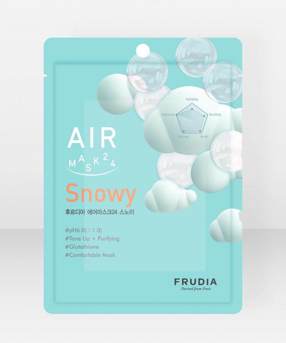 Frudia AIR Sheet Mask 24 Snowy kangasnaamio kasvonaamio
