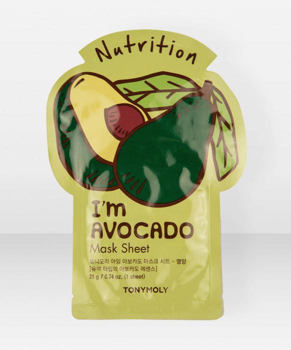 Tonymoly I Am Avocado Mask Sheet kangasnaamio kasvonaamio