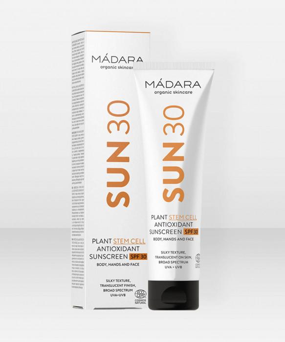 Mádara Plant Stem Cell Antioxidant Sunscreen SPF 30 100ml aurinkovoide aurinkosuoja