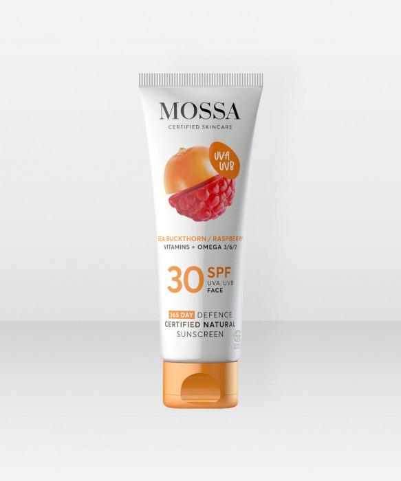 MOSSA 365 DAYS DEFENCE Certified Natural Sunscreen 50ml aurinkosuojavoide aurinkosuoja