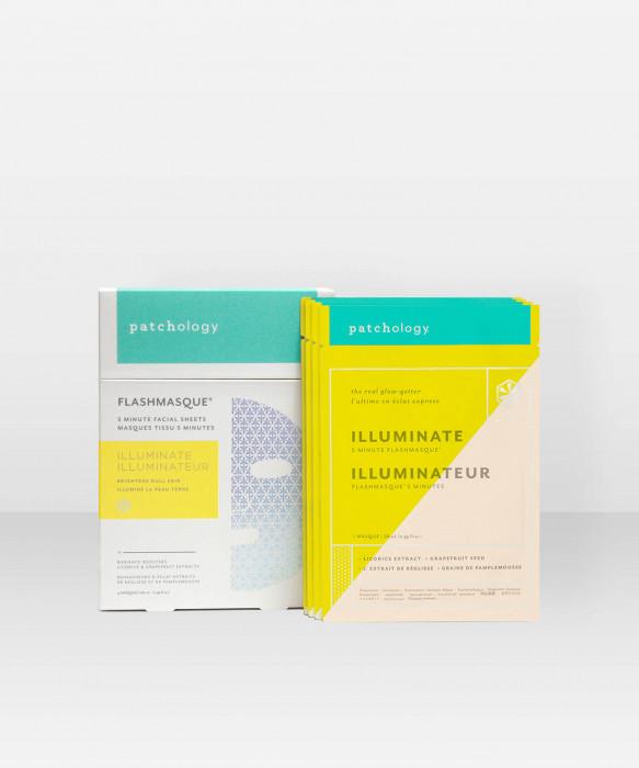 Patchology FlashMasque Illuminate 4-pack kangasnaamio kasvonaamio