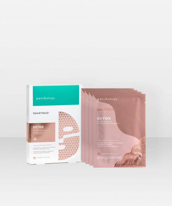 Patchology SmartMud No Mess Mud Masque 4-pack savinaamio kasvonaamio