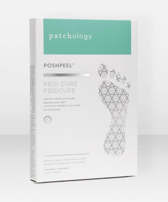 Patchology PoshPeel Pedi Cure Foot Peeling Socks kuorintasukat jalkojen kuorinta