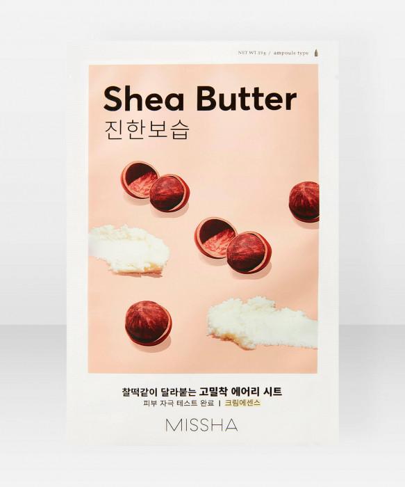 Missha Airy Fit Shea Butter Sheet Mask 19g kangasnaamio kasvonaamio