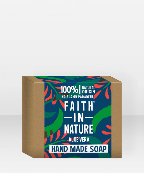 Faith in Nature Soap Aloe Vera -käsisaippua palasaippua