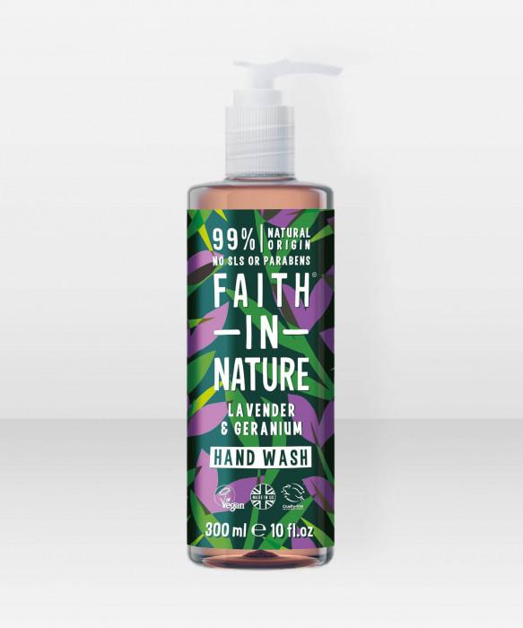 Faith in Nature Hand Wash Lavender & Geranium käsisaippua