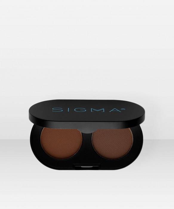 Sigma Beauty Colour And Shape Brow Powder Duo  Dark 3g kulmapuuteri kulmaväri