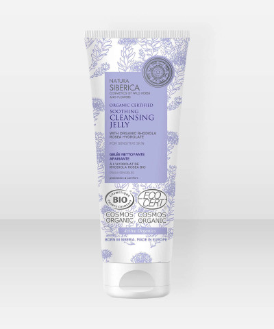 Natura Siberica Organic Certified Soothing Cleansing Jelly for Sensitive Skin 140ml