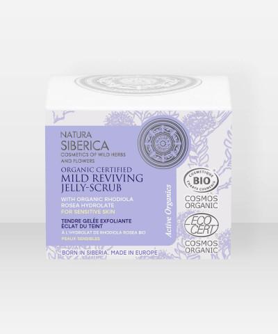 Natura Siberica Organic Certified Mild Reviving Jelly-Scrub for sensitive skin 50ml
