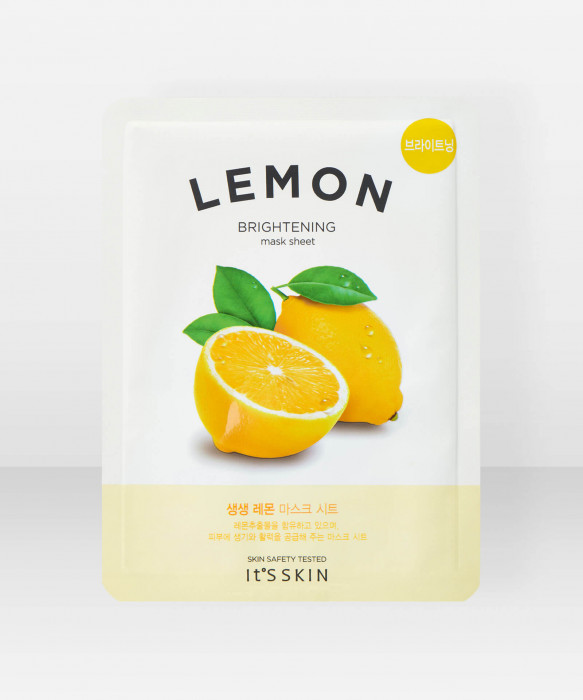 It's Skin The Fresh Lemon Sheet Mask 18g kangasnaamio kasvonaamio