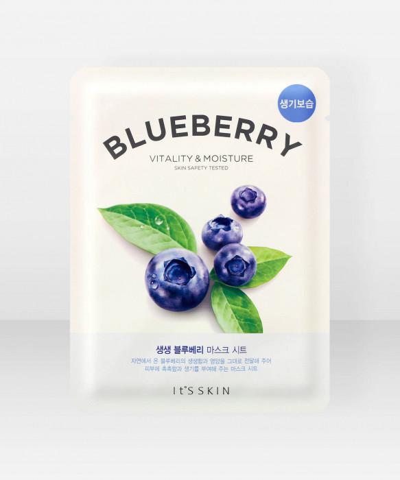 It'S Skin The Fresh Blueberry Sheet Mask 21g kasvonaamio kangasnaamio