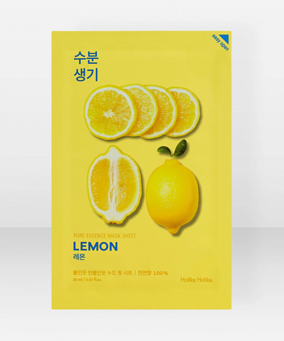 Holika Holika Pure Essence Lemon Sheet Mask 23ml kangasnaamio kasvonaamio