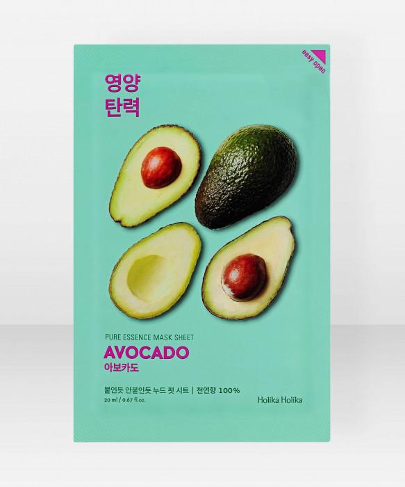 Holika Holika Pure Essence Avocado Sheet Mask 23ml kangasnaamio kasvonaamio