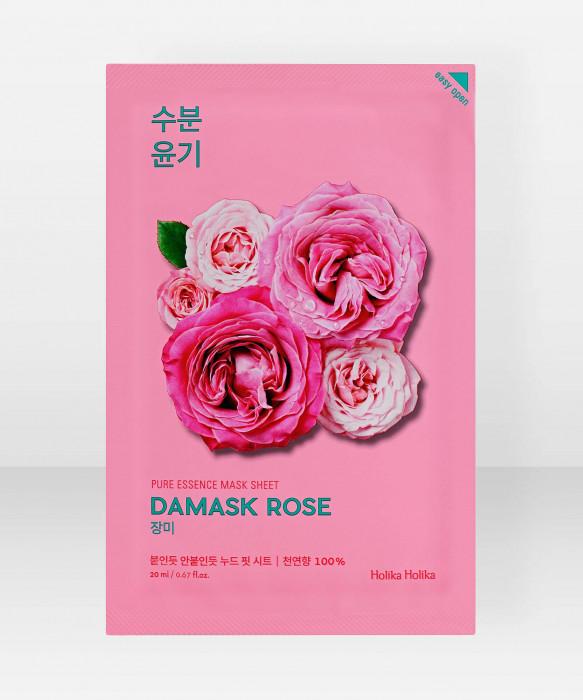 Holika Holika Pure Essence Damask Rose Sheet Mask 20ml Kangasnaamio kasvonaamio