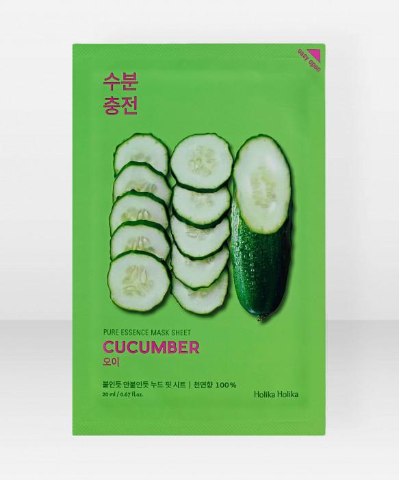 Holika Holika Pure Essence Cucumber Sheet Mask 23ml Kangasnaamio kasvonaamio