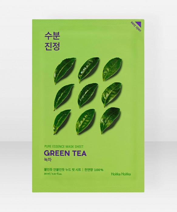 Holika Holika Pure Essence Green Tea Sheet Mask 23ml Kangasnaamio kasvonaamio
