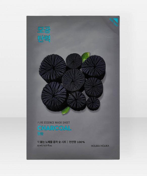 Holika Holika Pure Essence Charcoal Sheet Mask 23ml Kangasnaamio kasvonaamio