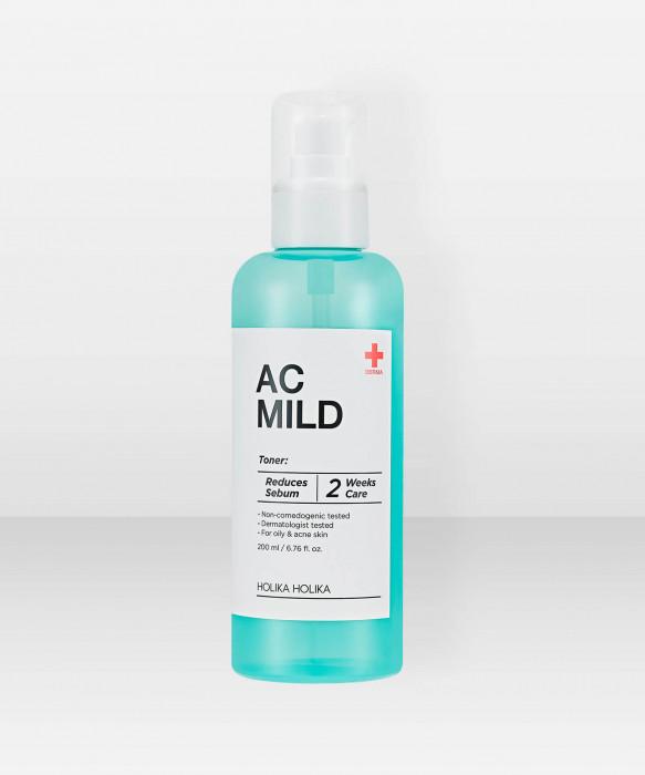 Holika Holika AC & MILD Clear Toner 245ml kasvovesi