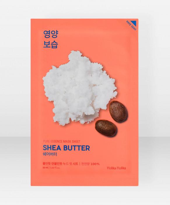 Holika Holika Pure Essence Shea Butter Sheet Mask 23ml kangasnaamio kasvonaamio