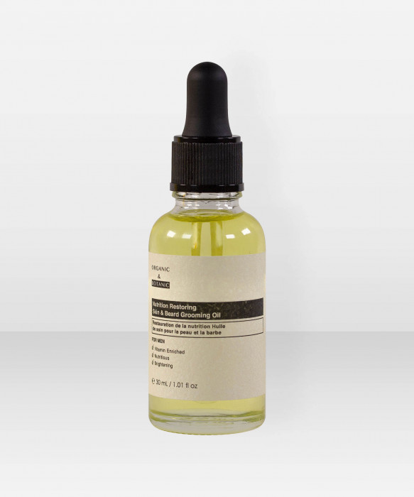 Organic & Botanic Men Nutrition Restoring Skin & Beard Grooming Oil 30ml Partaöljy
