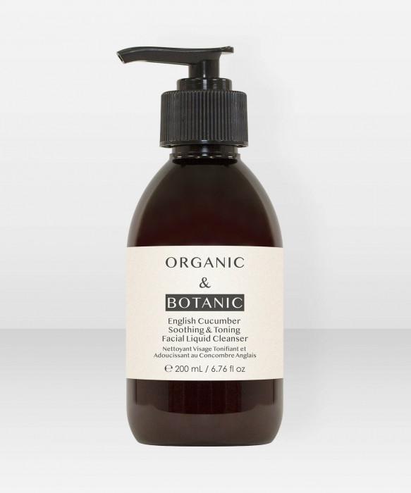 Organic & Botanic English Cucumber Soothing & Toning Facial Liquid Cleanser 200ml puhdistusemulsio puhdistusaine
