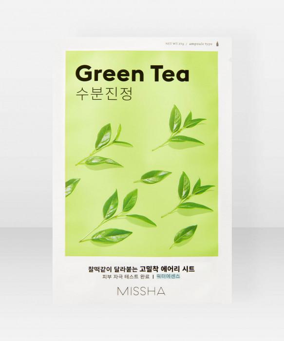 Missha Airy Fit Green Tea Sheet Mask 19g kangasnaamio kasvonaamio