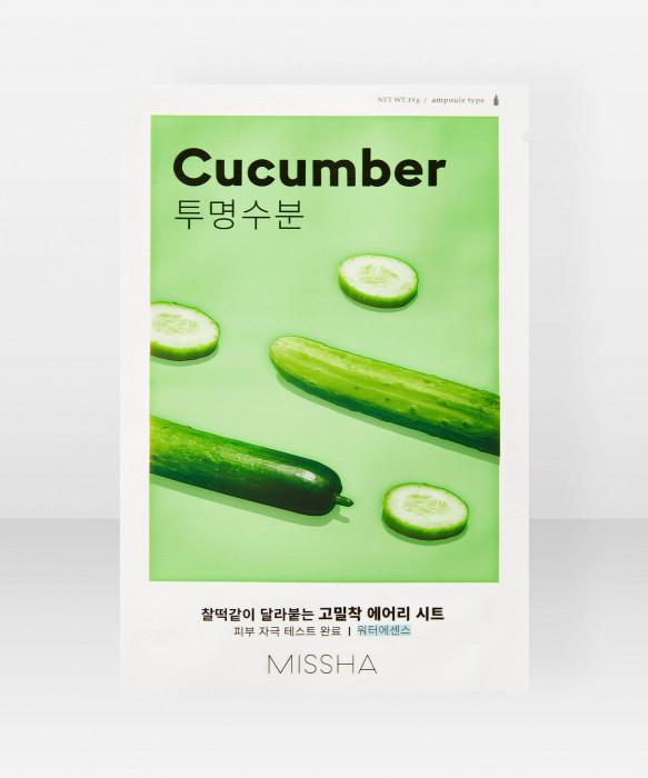Missha Airy Fit Cucumber Sheet Mask 19g kangasnaamio kasvonaamio
