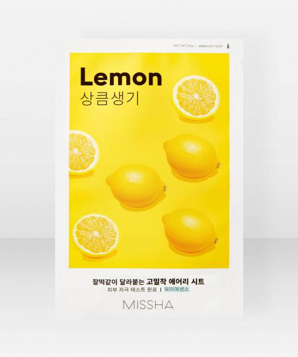 Missha Airy Fit Lemon Sheet Mask 19g kangasnaamio kasvonaamio