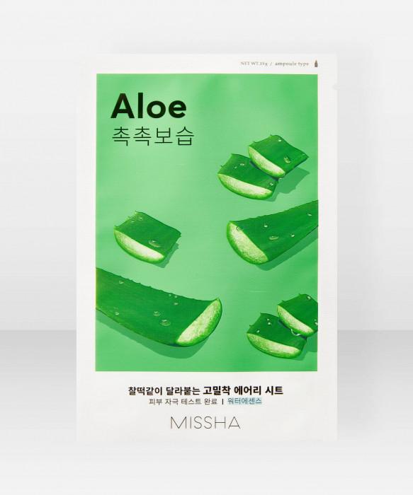 Missha Airy Fit Aloe Sheet Mask 19g kangasnaamio kasvonaamio