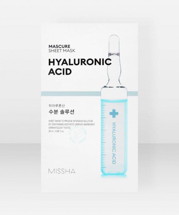 Missha Mascure Hydra Solution Hyaluronic Acid Sheet Mask 28ml kangasnaamio kasvonaamio