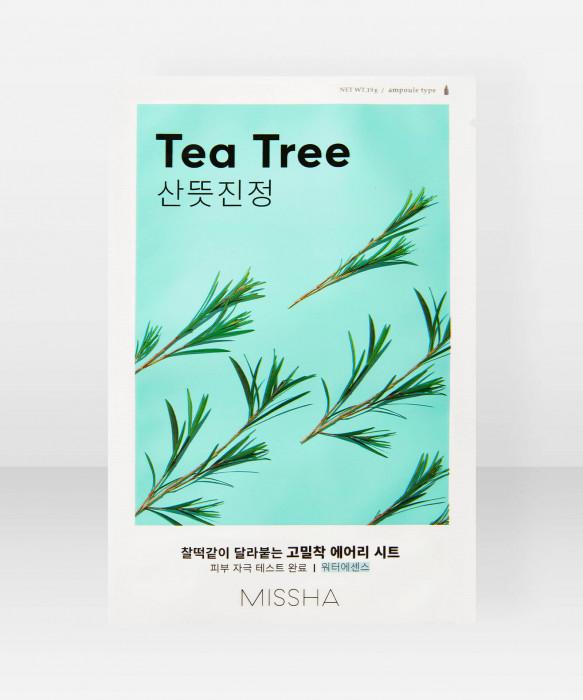 Missha Airy Fit Tea Tree Sheet Mask 19g kangasnaamio kasvonaamio