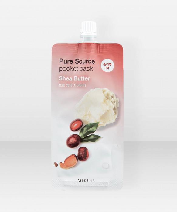 Missha Pure Source Shea Butter Pocket Pack 10ml Yönaamio